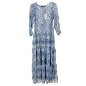For Love and Lemons Blue Floral Maxi Dress
